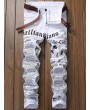 Journal Print Zip Fly Jeans - White 34