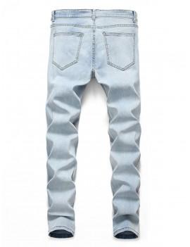 Big Hole Design Casual Jeans - Jeans Blue L