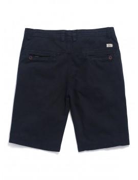 Applique Solid Color Denim Shorts - Dark Slate Blue 34