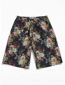 Allover Flower Print Shorts - Multi M