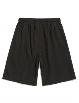 Color Block Panel Zipper Pocket Shorts - Bright Orange M