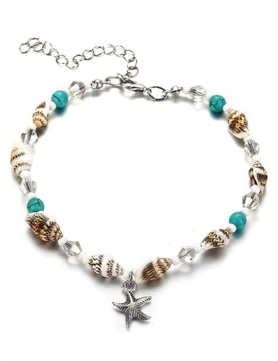 Stylish Faux Turquoise Sea Star Beach Ankle - Multi