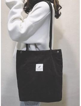 Canvas Simple Tote Bag - Black