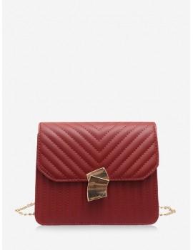 Crossbody Leather Shoulder Bag - Red Wine