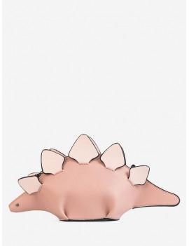 3D Funny Dinosaur Crossbody Bag - Rose