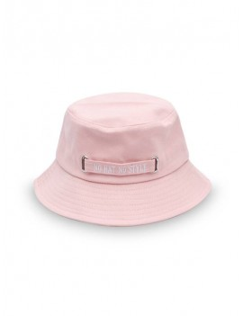 Casual Letter Embroidery Bucket Hat - Pink