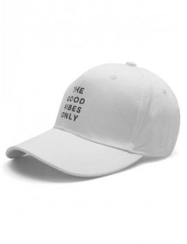 Casual Letters Embroidery Baseball Cap - White