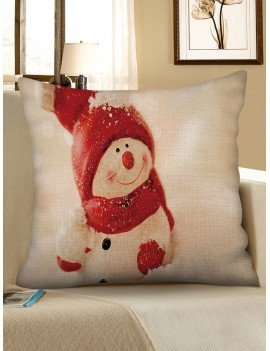 4 Pcs Christmas Theme Print Sofa Linen Pillowcases - Multi W18 X L18 Inch
