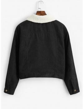 Fuzzy Corduroy Jacket - Black M