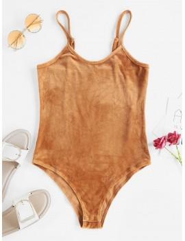 Cami High Rise Velvet Bodysuit - Dark Goldenrod S