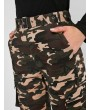Belted Camo Jogger Pants - Multi-a Xl