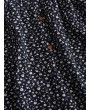 Buttons Tiny Floral Wide Leg Romper - Deep Blue S