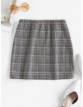 Houndstooth Mini Skirt - Multi-a M