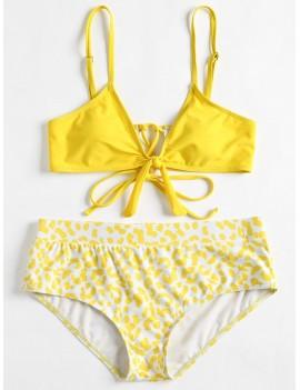 Cami Plus Size Printed Swimwear - Yellow 4x