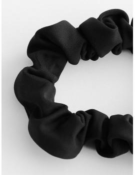 Elastic Plain Hair Tie - Black