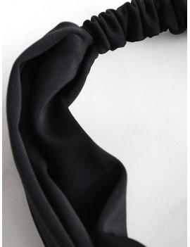 Elastic Bowknot Beach Headband - Black