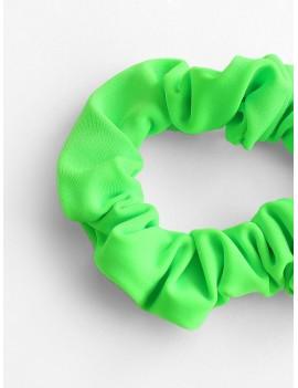 Elastic Plain Hair Tie - Chartreuse
